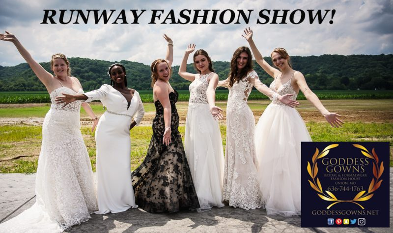 The St. Louis Bridal Show Runway Fashion Event at Water's Edge August 15 2021