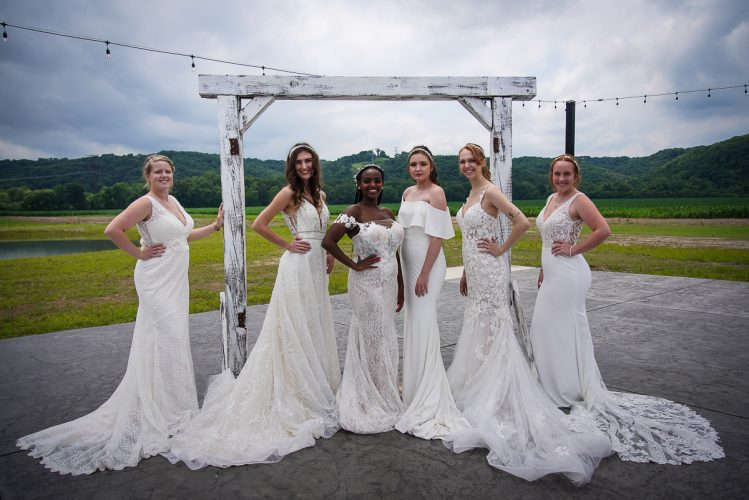 Models at The St. Louis Bridal Show at Brookdale Farms July 2021