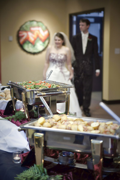 Buffet Line with Wedding Coupe