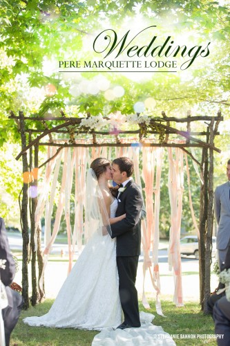 Venue Name: Pere Marquette Lodge and Conference Center, Cabin Lawn Ceremony