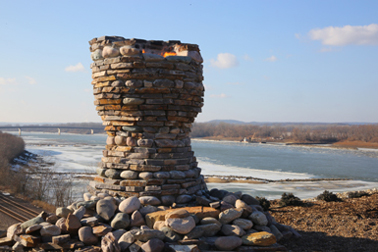Fire Pit overlooking Missouri River