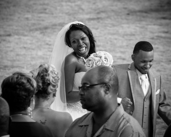 See the EXCITEMENT in both the bride and groom just after getting married!