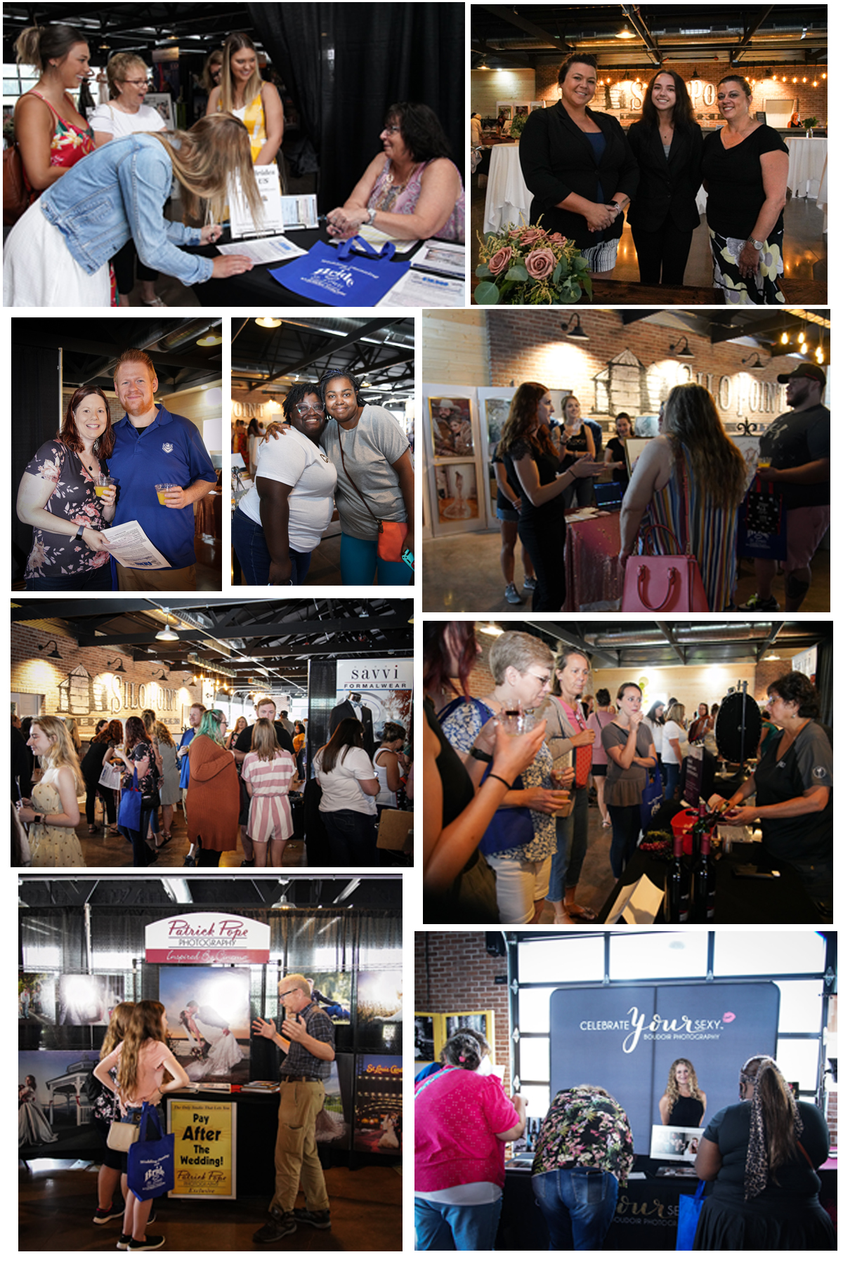 Composite of Photos from Bridal Show at Brookdale Farms